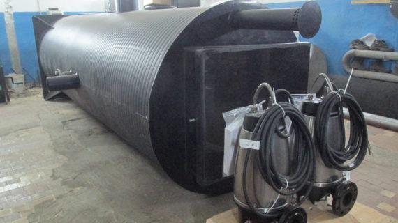 Пример расчета бетонного пригруза для КНС
